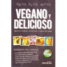 portada Vegano y delicioso, por Montse Vicente Solar, 9788416336012