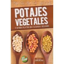 portada Potajes vegetales y otros platos de cuchara veganos, por Montse Vicente Solar, 9788416336029