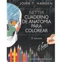 Portada Netter. Cuaderno de anatomía para colorear + StudentConsult. Por John T. Hansen,. ISBN 9788445826133
