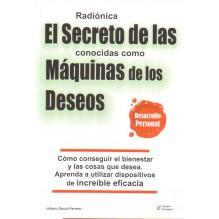 portada Radiónica. El secreto de las conocidas como máquinas de los deseos. Por Hilario García Ferrero. ISBN: 9788495292551