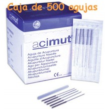 Agujas de acupuntura Marca ACIMUT 0,30x25mm