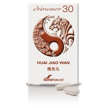 CHINASOR 30 (HUAI JIAO WAN) COMPRIMIDOS DE FRUTOS DE SOFORA.