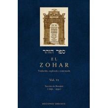 El Zohar Volumen Vi | Rabi Shimon Bar Iojai  | ed. Obelisco