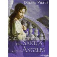 Cartas adivinatorias de los Santos y de los Ángeles (manual + baraja), por Doreen Virtue. Guy Trédaniel ediciones