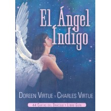 El Angel Indigo (manual + baraja), por Doreen Virtue y Charles Virtue. Guy Trédaniel ediciones