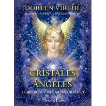 Cristales y ángeles  Libro guía y 44 cartas oráculo