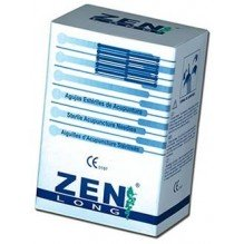 Agujas De Acupuntura Desechables 100 Ud. Marca Zen Long Sin Guia 0.25 X 50mm